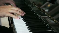 Pianist hands Stock Footage
