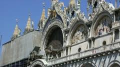 San marco basilica - stock footage