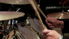 Drumset Preformance Sequence Stock Footage