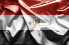 flag of egypt - stock illustration