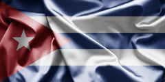 flag of cuba - stock illustration