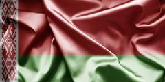 flag of belarus - stock illustration