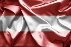Flag of austria Stock Illustration