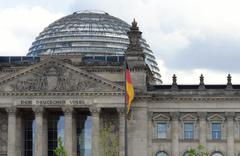 german parliament detail - stock photo
