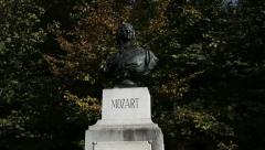 Mozart monument, Salzburg Stock Footage
