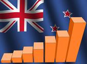 Graph and new zealand flag Stock Illustration