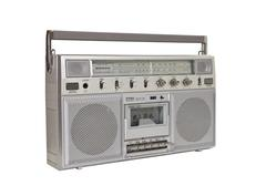 Vintage boom box portable radio cassette Stock Photos