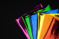 colorful foil - stock photo