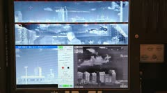 RED SKY-2 Compact Air Defense Missile System  control panel Stock Footage