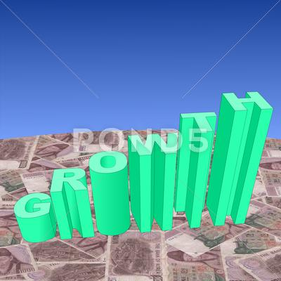 Stock Illustration of growth with korean won