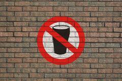 Ei alkoholia allekirjoittaa seinään Piirros