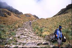 peru inca trail machu picchu - stock photo
