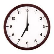 classic analog clock - stock photo