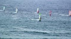 Wind Surfing Maui Hawaii Stock Footage