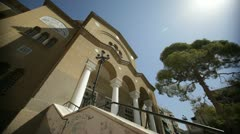 Greek Orthodox church in Athens Stock Footage