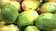 Mango's and Coconuts Pan Stock Footage
