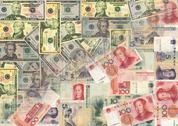 Chinese and american currency Stock Illustration