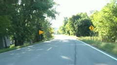 Morning Drive Between Lakes Stock Footage
