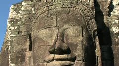 Ankor wat face zoom out Stock Footage