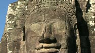 Stock Video Footage of Ankor wat face zoom out