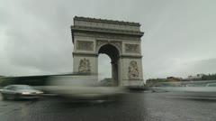 Arc de Triomphe. Timelapse. Stock Footage