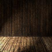Brown plant wooden corner  room and floor Stock Photos