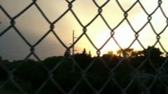 Over Highway on Bridge Sunset Stock Footage