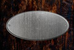 Stock Photo of metal sign