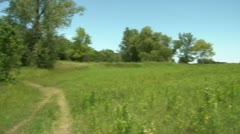 Pan of Beautiful Green Hill Stock Footage