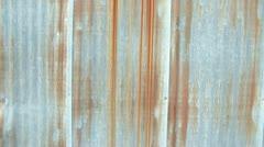 Pan Up Rusty Sheet Metal Siding Stock Footage
