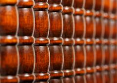pattern of wooden bars - stock photo