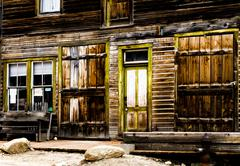 old store front from the wild west days - stock photo