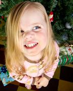 Happy child during christmas Stock Photos