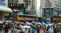 Causeway Bay, Hong Kong Crowds Rush Hour, Shopping Area, Car, Bus Traffic HD Footage