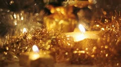 christmas background with candles - stock footage