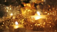 Christmas background with candles Stock Footage