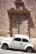church and car - stock photo
