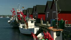 Fishing Boats in Boltenhagen (Weiße Wiek) - Baltic Sea, Northern Germany Stock Footage