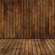 brown plant wooden corner  room and floor - stock photo