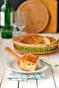 Cabbage and Boiled Egg Filled Pie Stock Photos