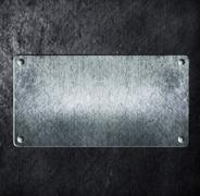 metal sign on metal aluminum texture - stock illustration