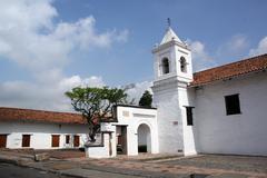white monastery - stock photo