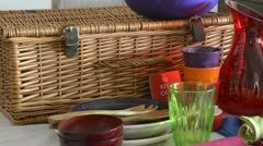 Picnic materials Stock Footage