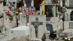 Cemetery above ground tombs Puerto Vallarta Mexico HD 4402 Stock Footage