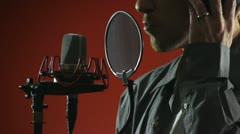 Singer and Microphone - stock footage