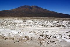 Stock Photo of mountain and salt desert