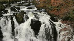 Swallow falls, waterfall in wales in the Fall Stock Footage
