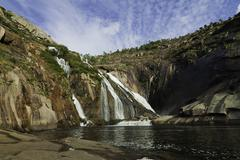 Ezaro waterfall Stock Photos