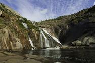 Stock Photo of ezaro waterfall