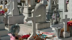 Mexican cemetery above ground tombs Puerto Vallarta Mexico HD 4406 Stock Footage